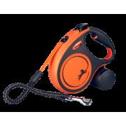 Рулетка Flexi Xtreme 5 м лента оранжевая